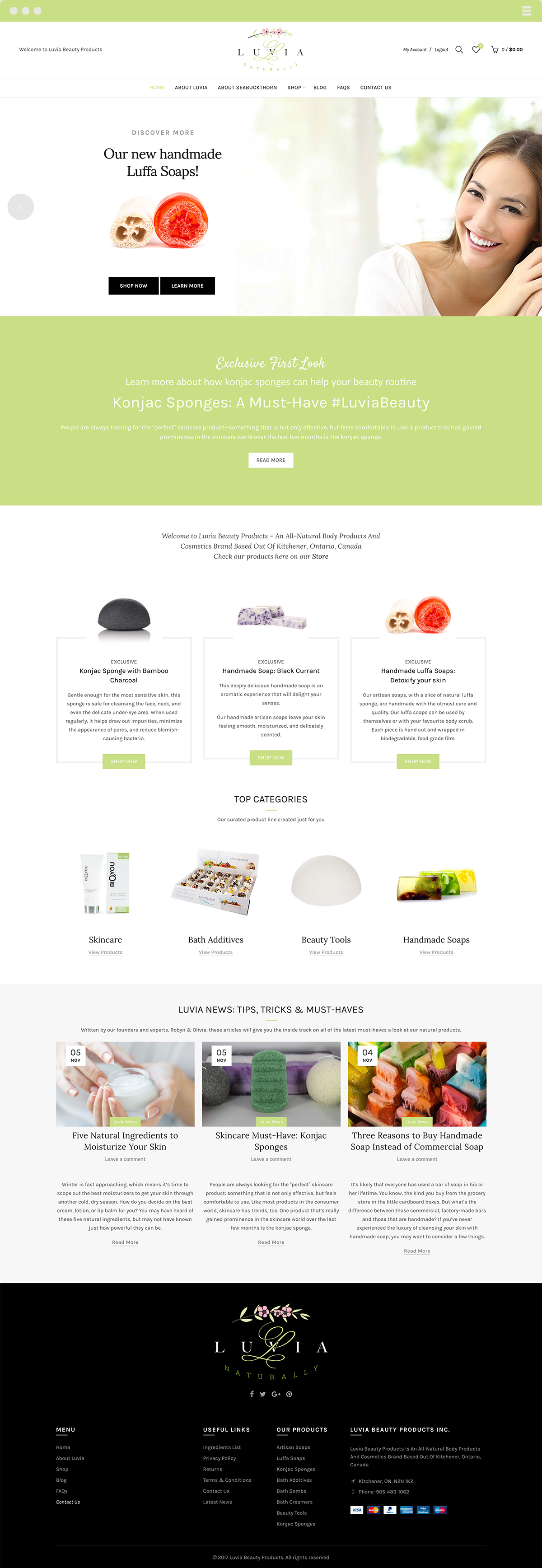Luvia Beauty Products Website Design & Development by Made By Frame