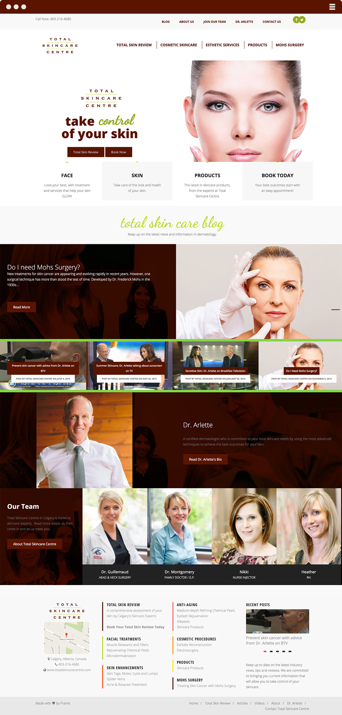 Total SkinCare Centre website design & development by Made By Frame