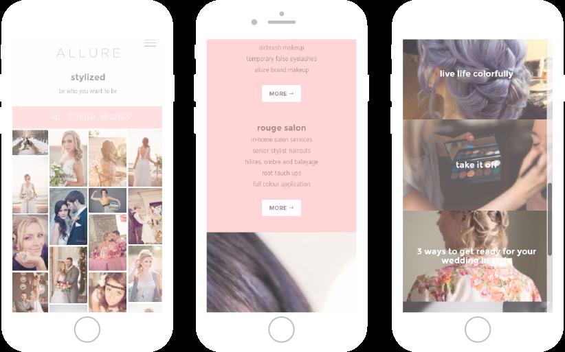 Allure Hair & Makeup Responsive Website Designed Made by Frame Niagara