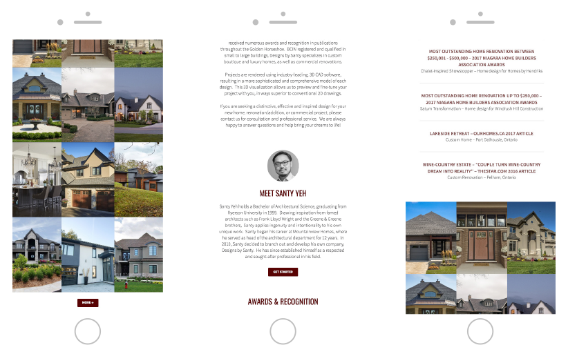 Designs by Santy Mobile Responsive Website Made by Frame