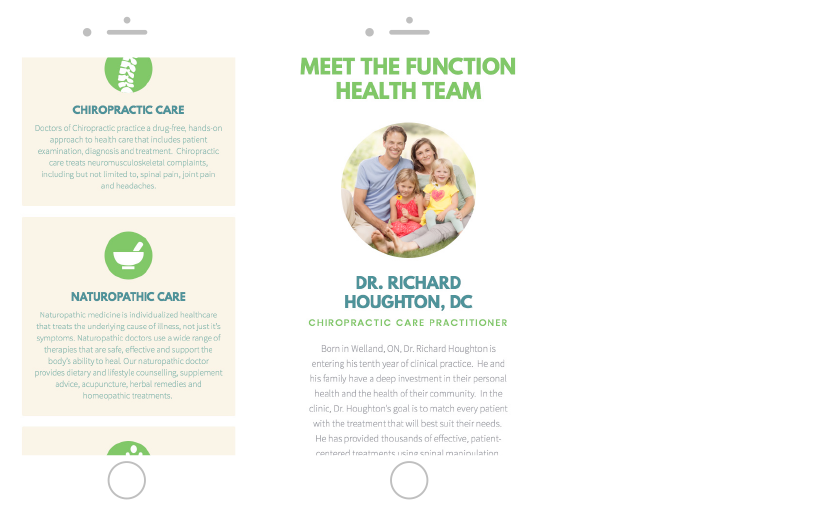 Function Health Clinic responsive website Made by Frame Niagara