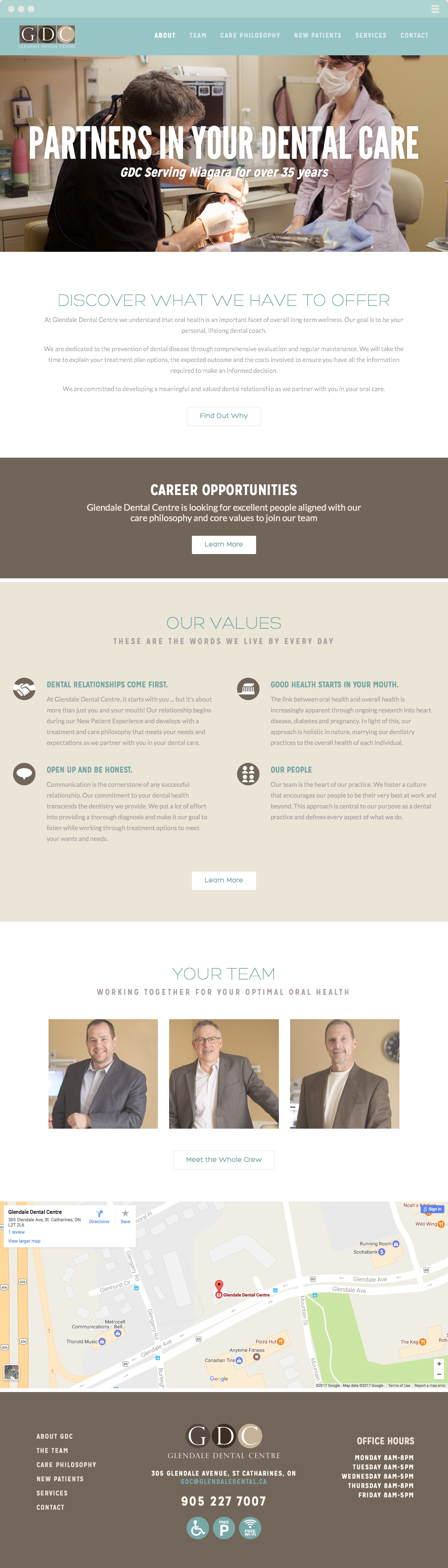 Glendale Dental Centre Website Design & Development Made By Frame