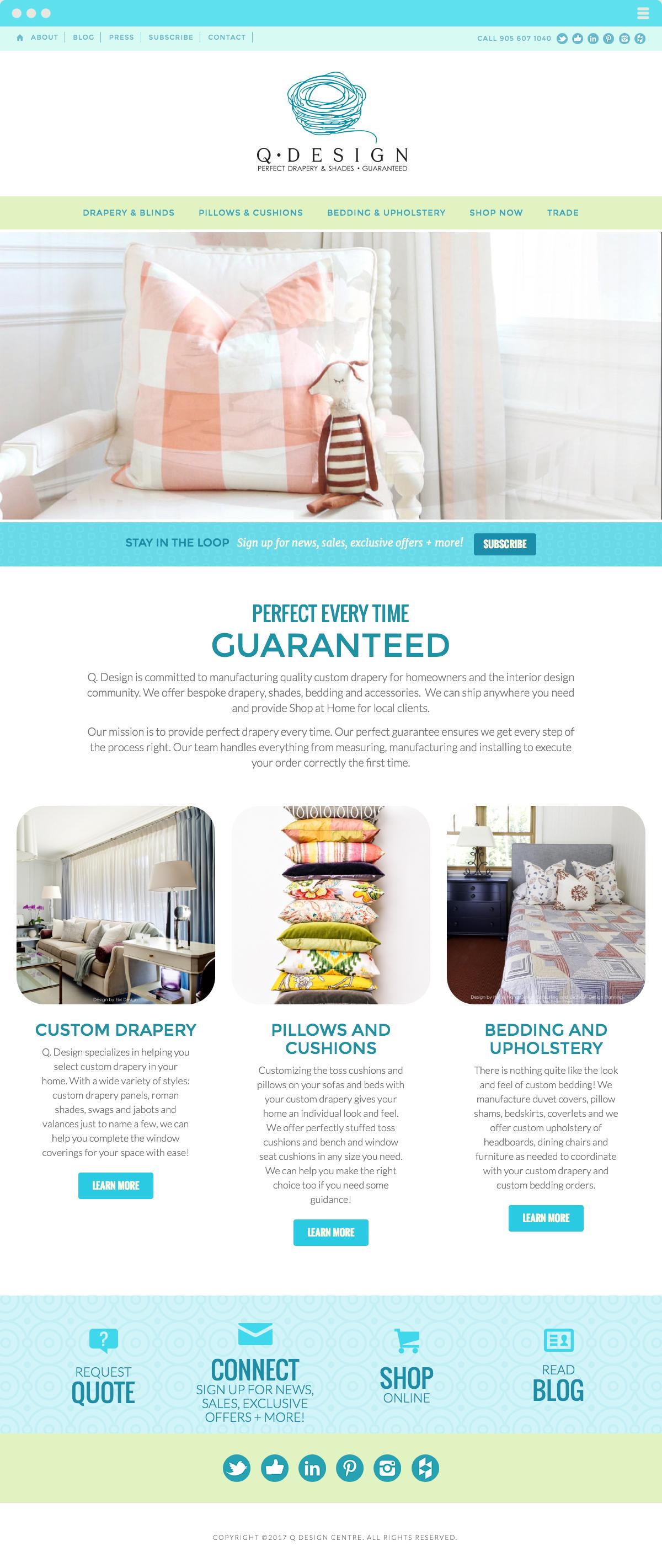 Q Design Centre Website Design & Development Made By Frame